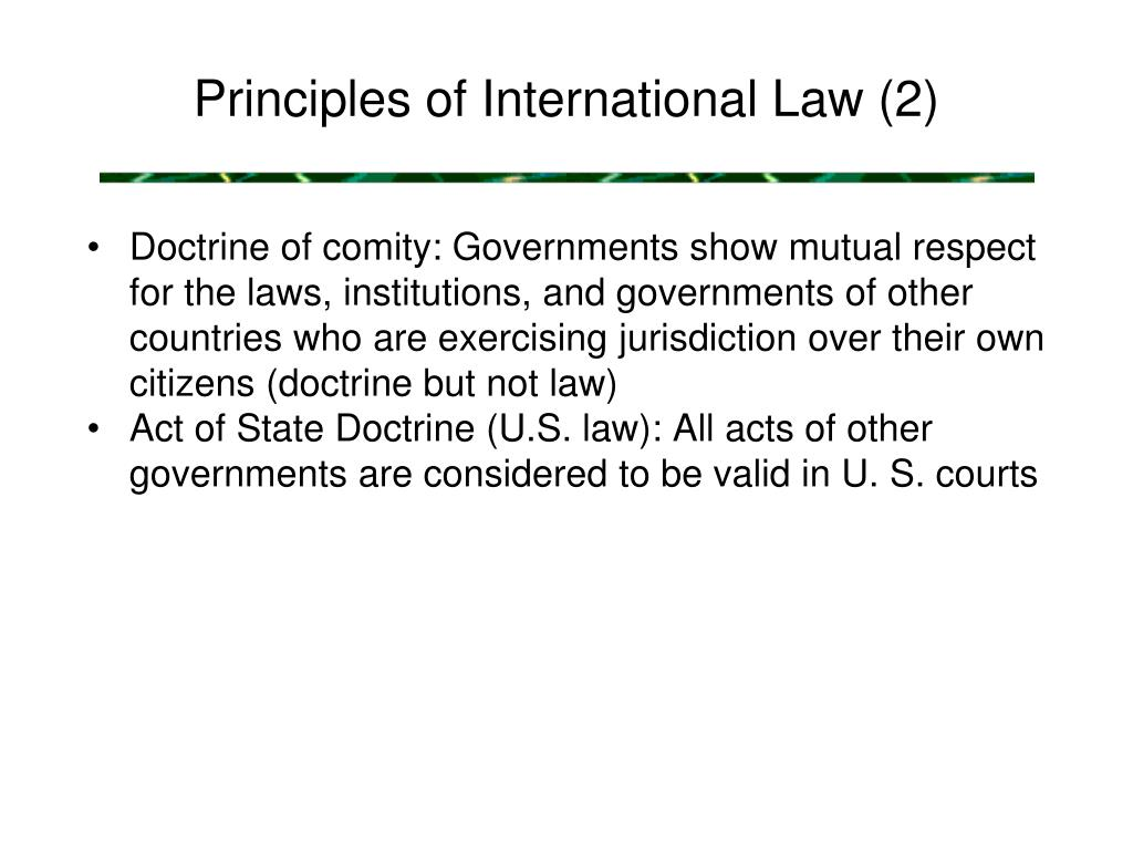 Principles of International Law (2)