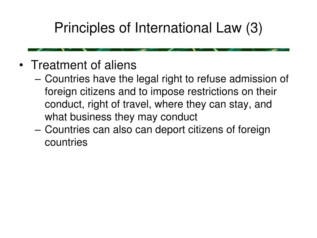 Principles of International Law (3)