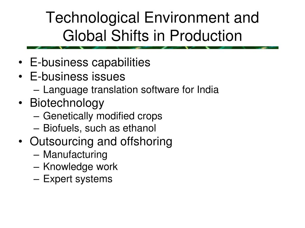 Technological Environment and