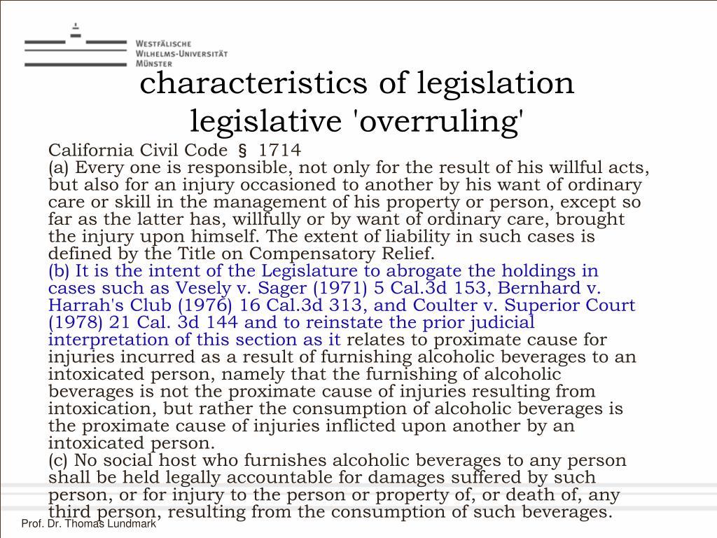 characteristics of legislation