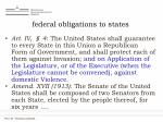 federal obligations to states