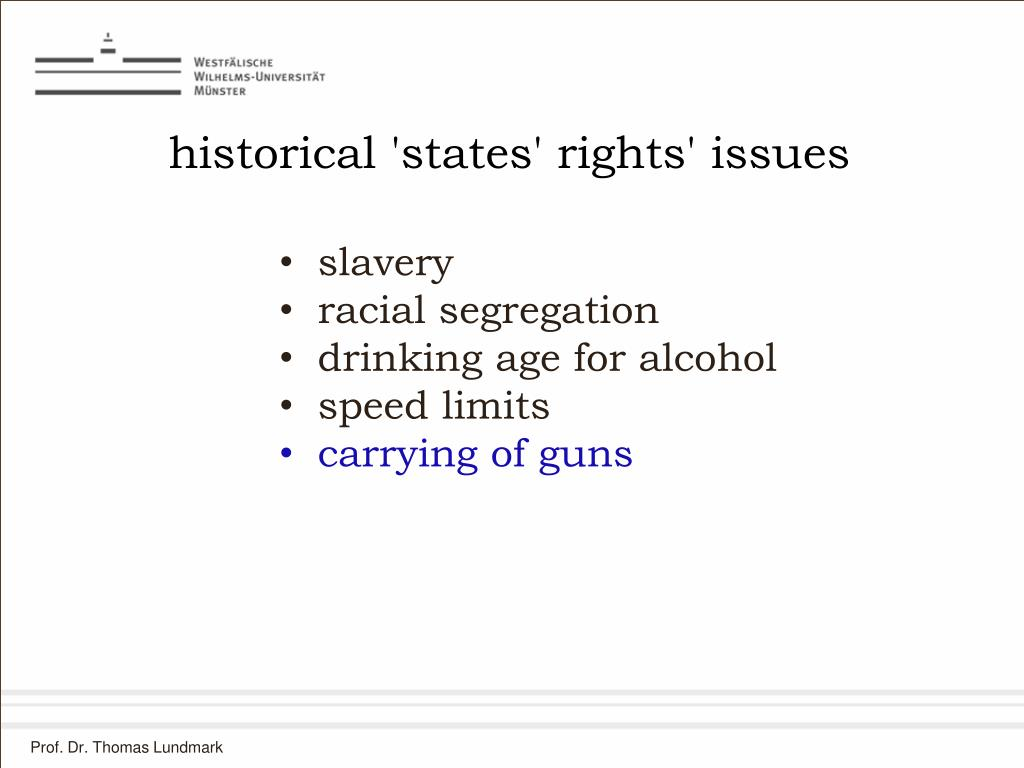 historical 'states' rights' issues