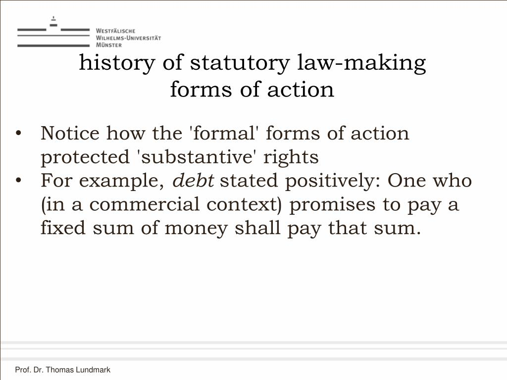 history of statutory law-making