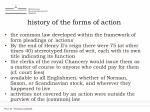 history of the forms of action