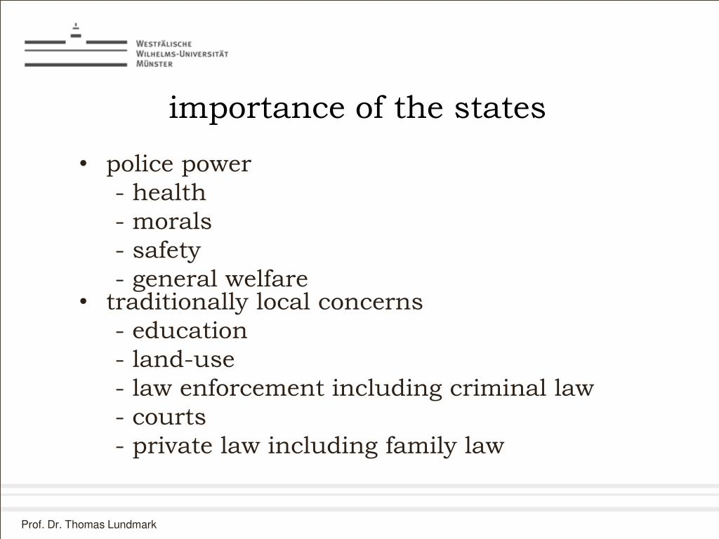 importance of the states