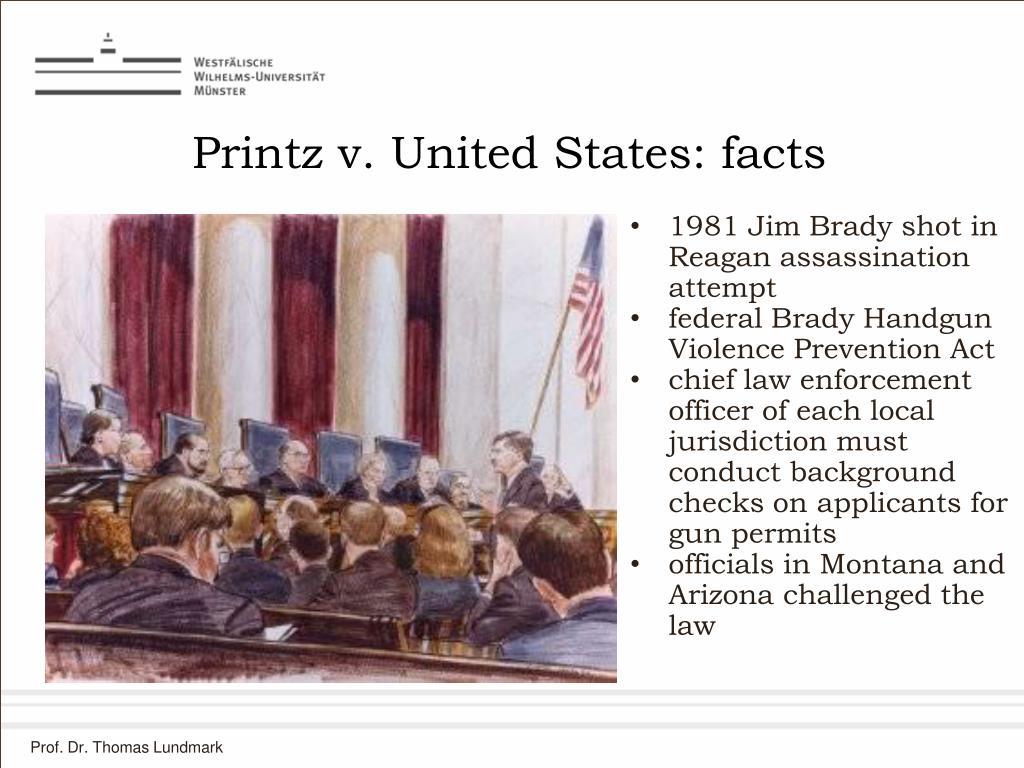 Printz v. United States: facts