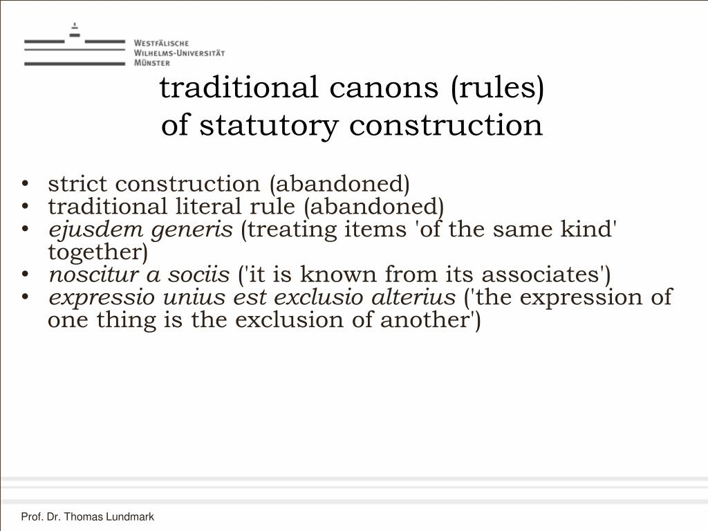 traditional canons (rules)