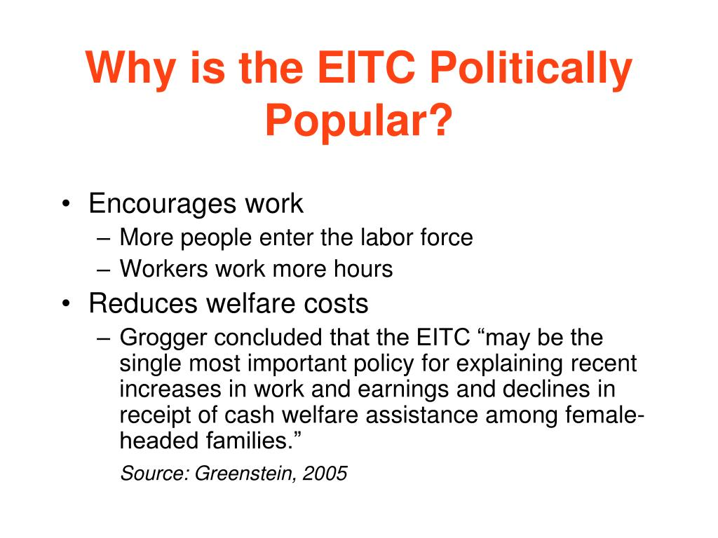 Why is the EITC Politically Popular?