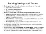 building savings and assets
