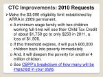 ctc improvements 2010 requests