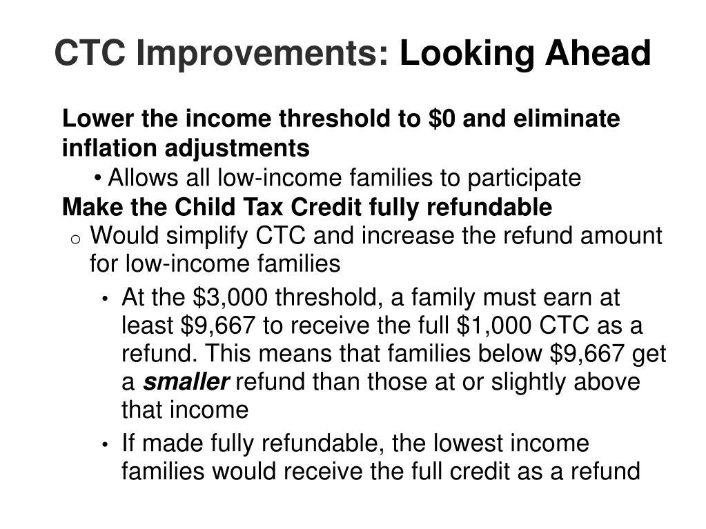 CTC Improvements: