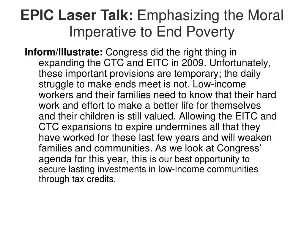 EPIC Laser Talk:
