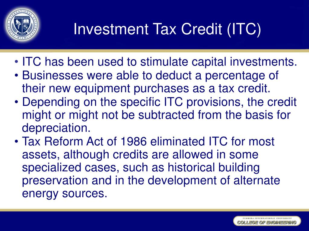 Investment Tax Credit (ITC)