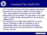 investment tax credit itc