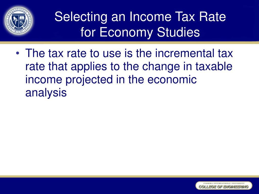 Selecting an Income Tax Rate