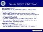 taxable income of individuals4
