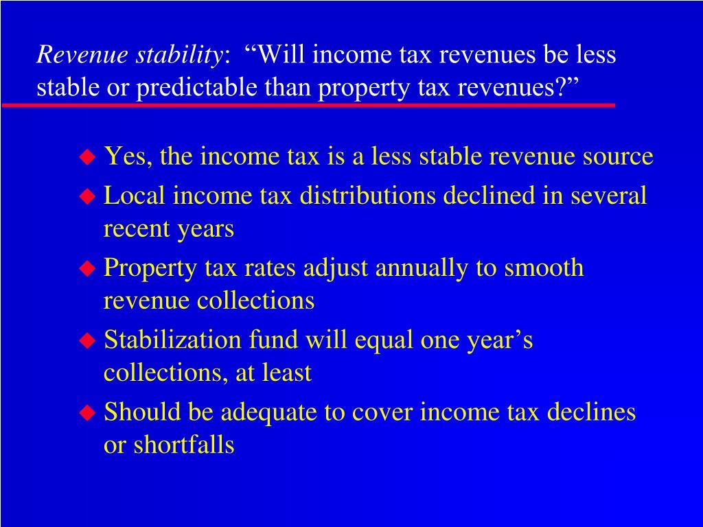 Revenue stability