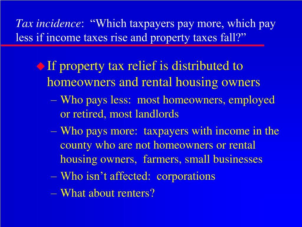 Tax incidence