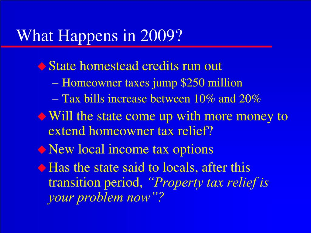 What Happens in 2009?
