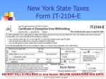new york state taxes form it 2104 e