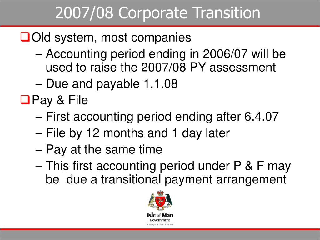 2007/08 Corporate Transition
