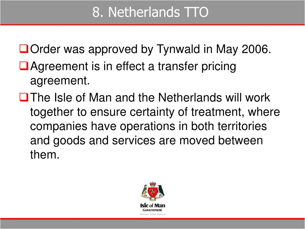 8. Netherlands TTO