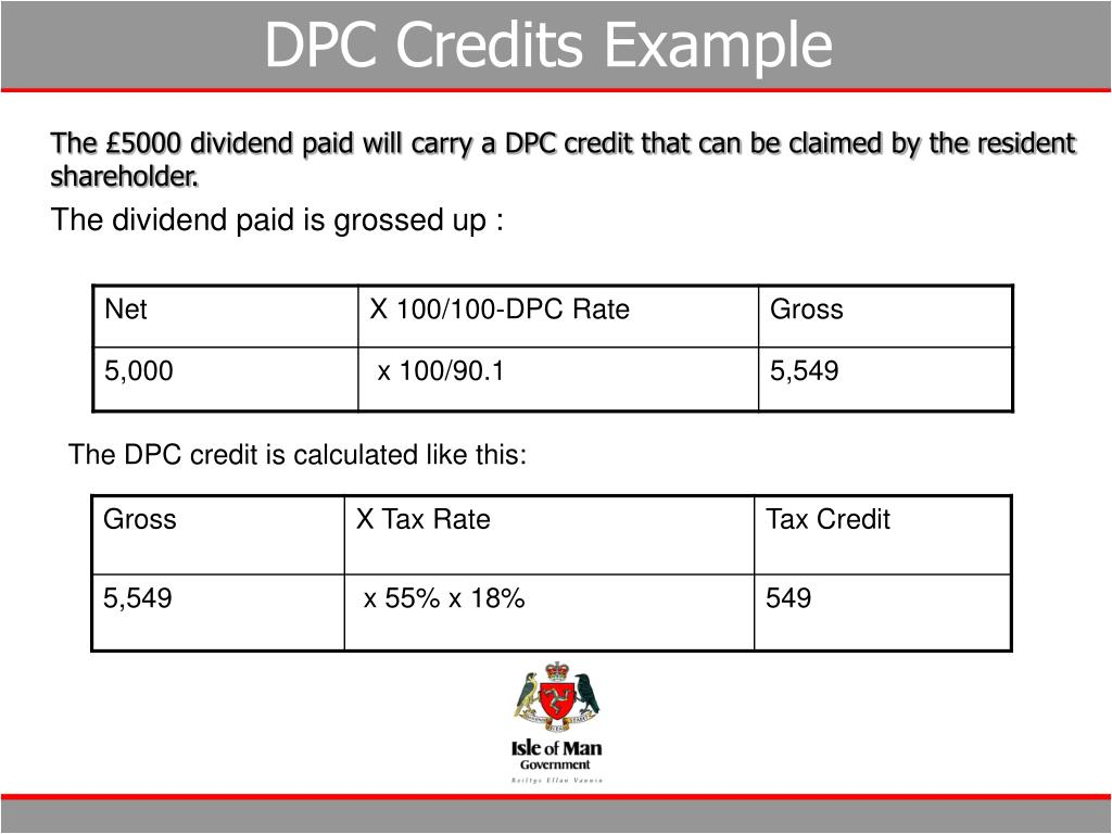 DPC Credits Example