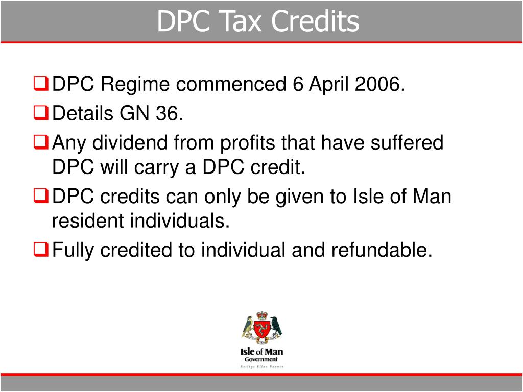 DPC Tax Credits