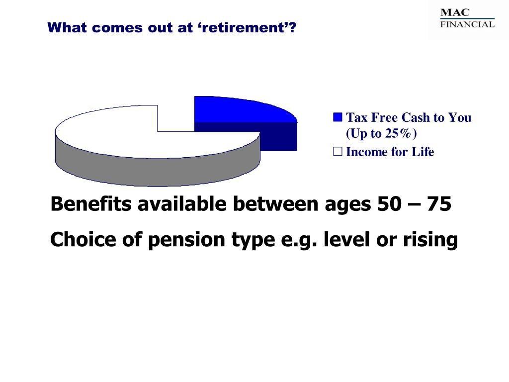 What comes out at 'retirement'?