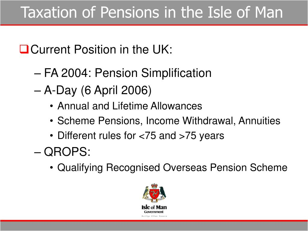 Taxation of Pensions in the Isle of Man