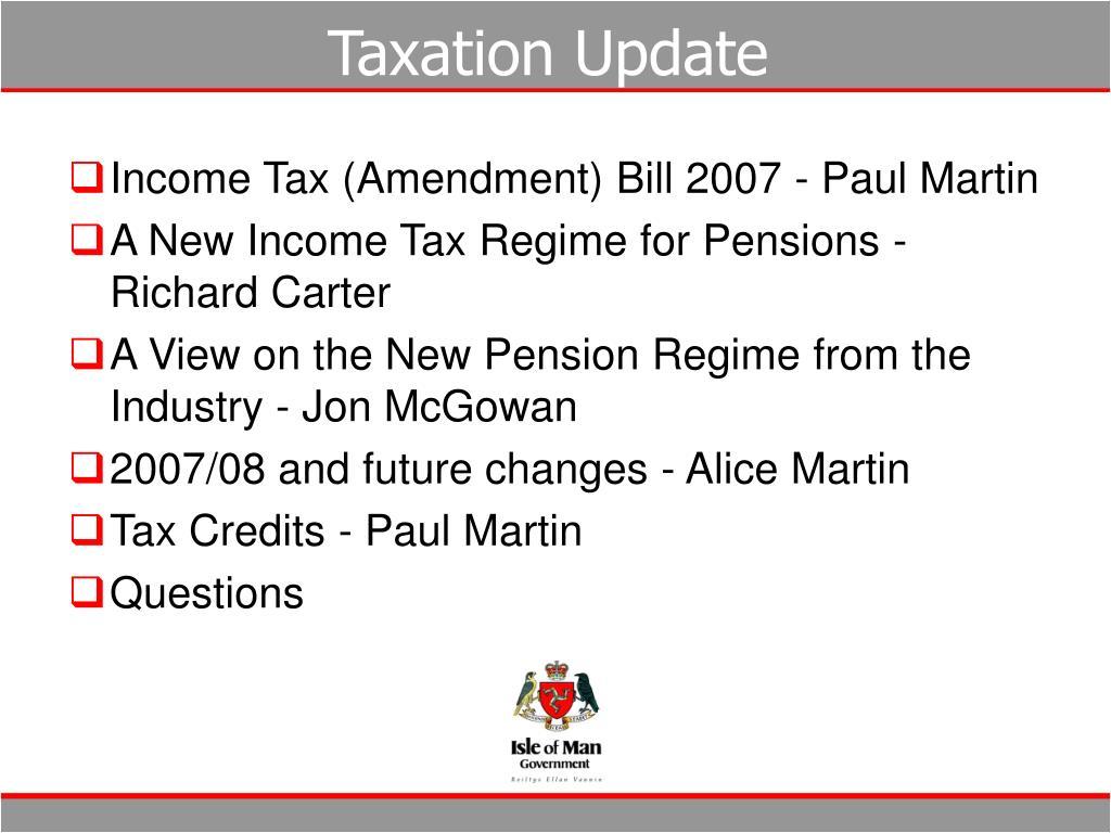 Taxation Update