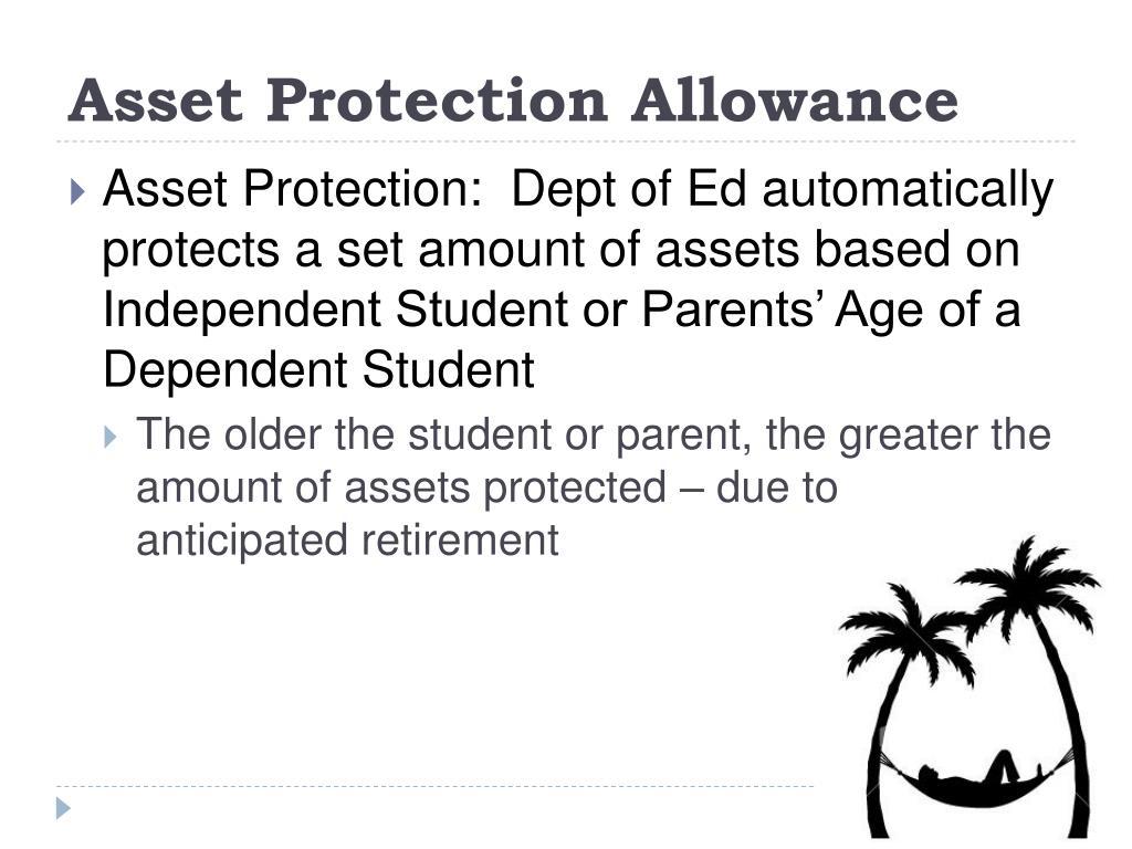 Asset Protection Allowance