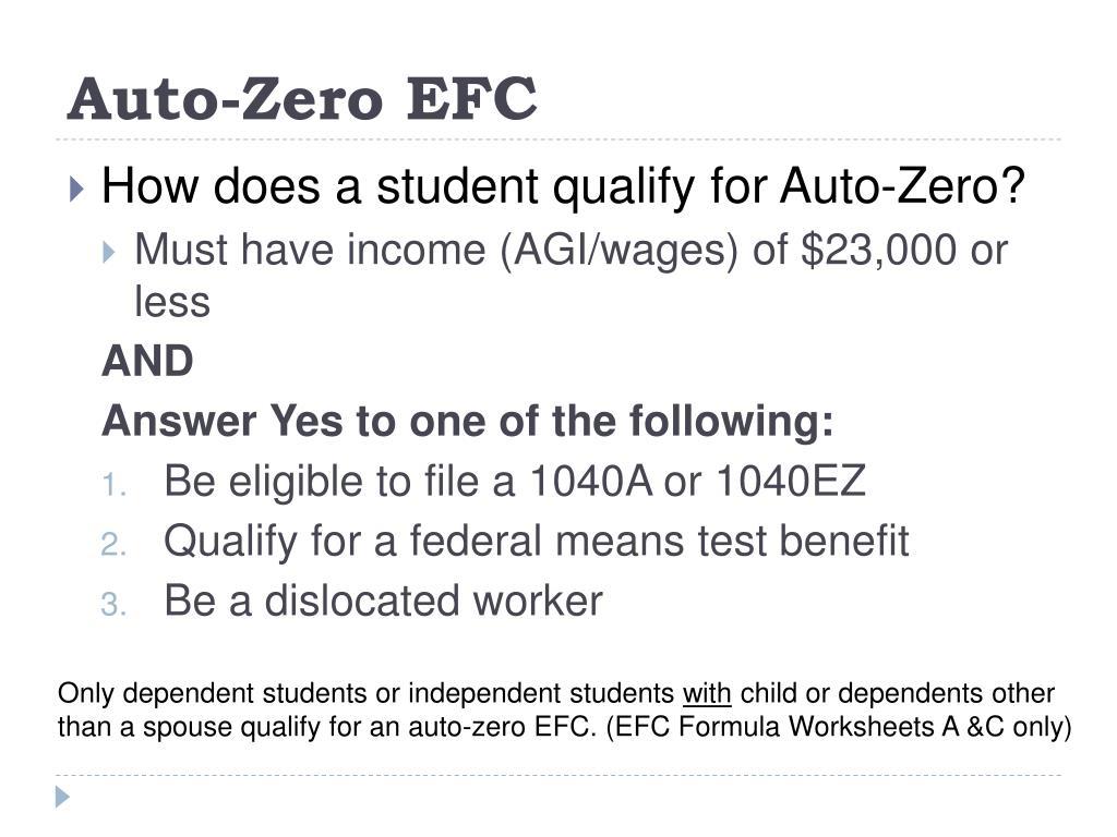 Auto-Zero EFC