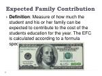 expected family contribution