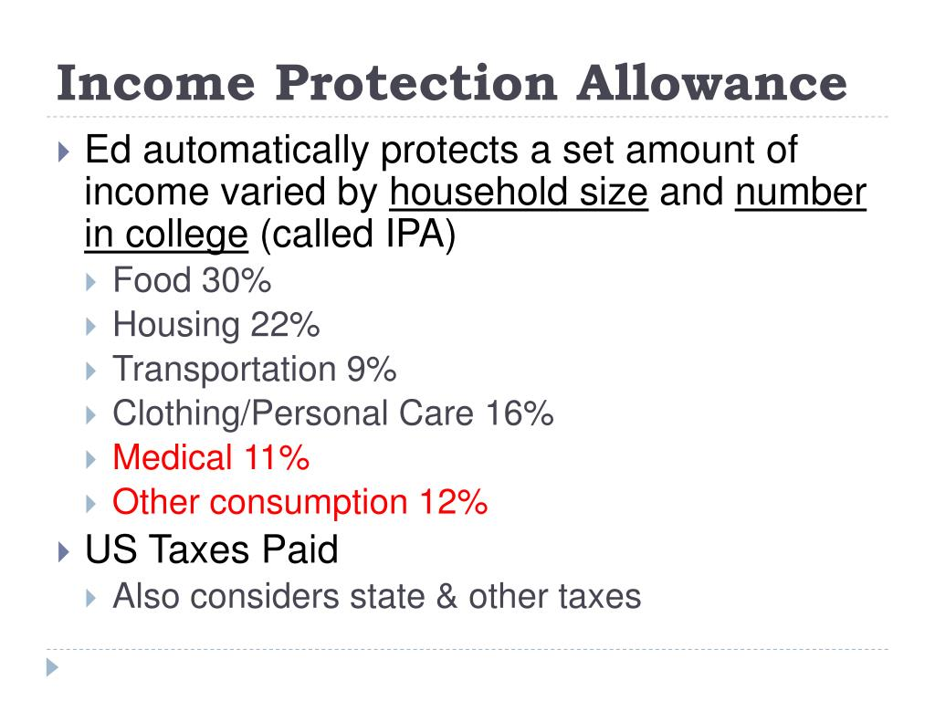 Income Protection Allowance