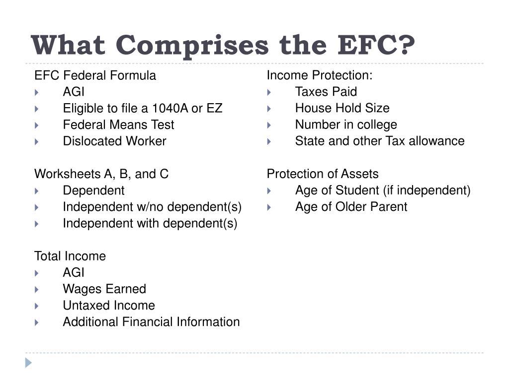 What Comprises the EFC?