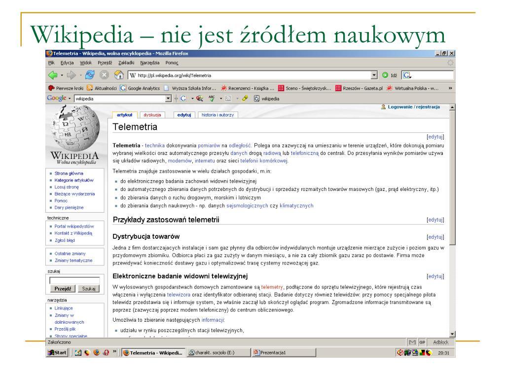 Wikipedia – nie jest źródłem naukowym