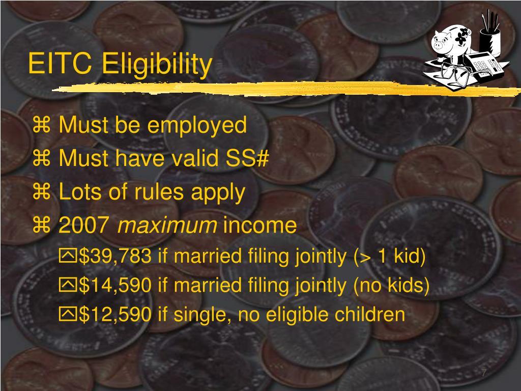 EITC Eligibility
