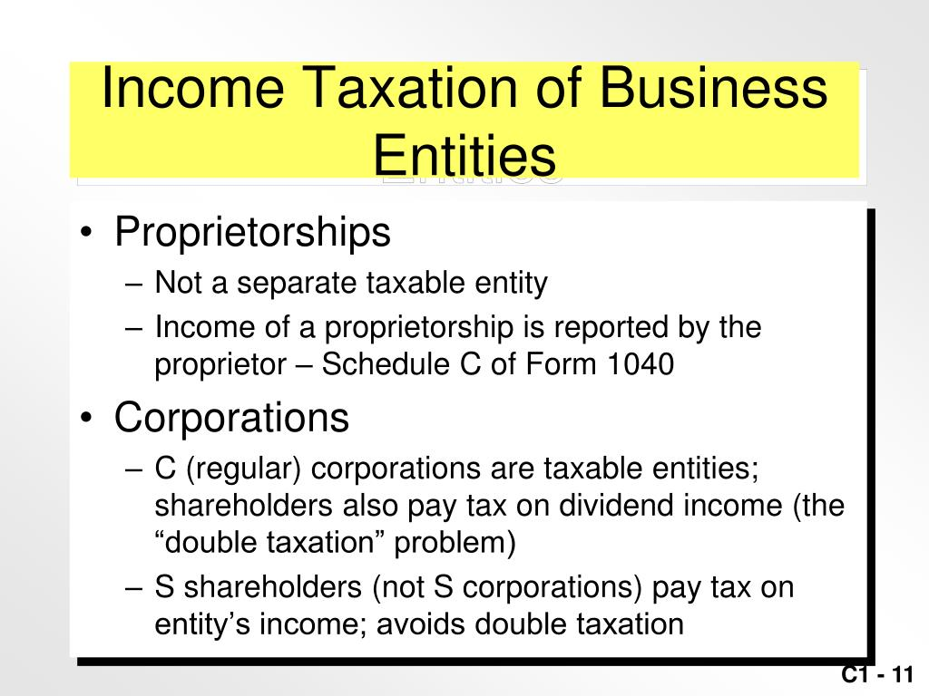 Income Taxation of Business Entities