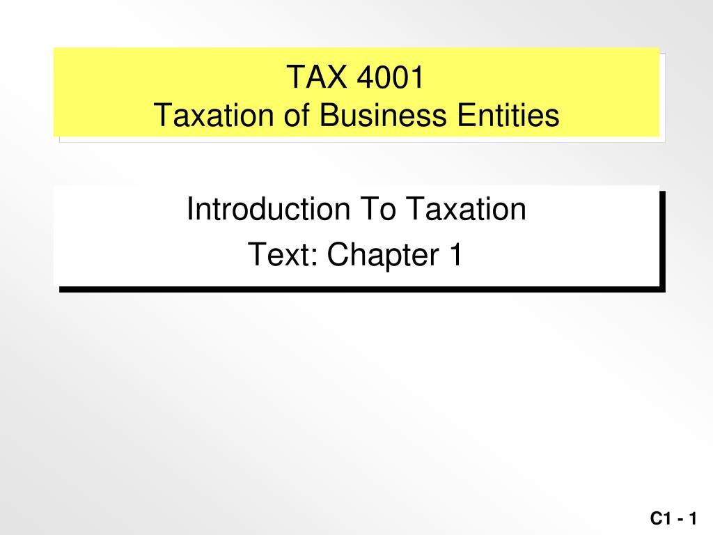 TAX 4001
