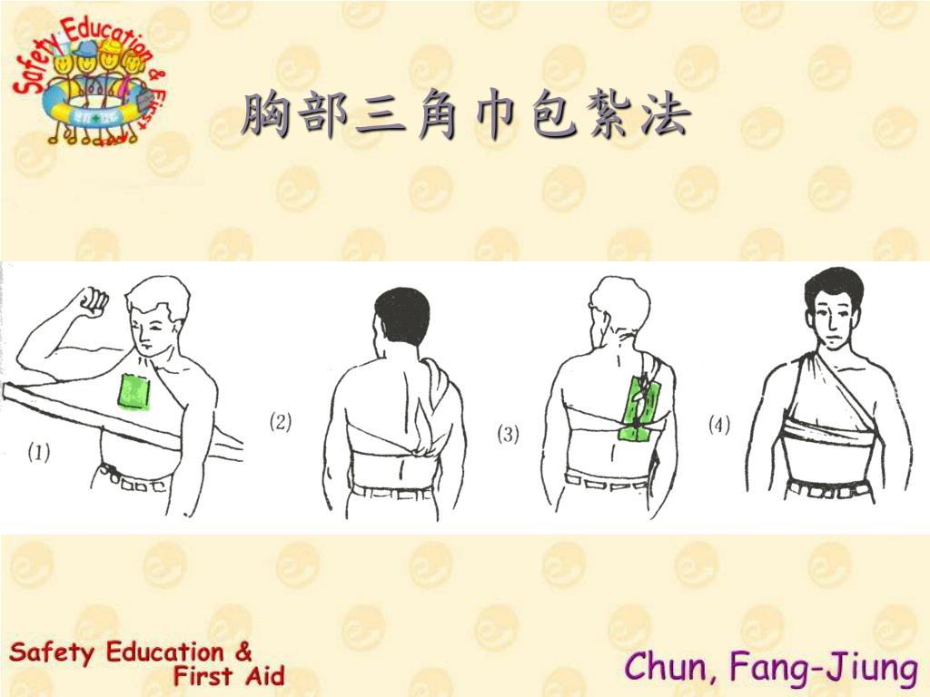 胸部三角巾包紮法