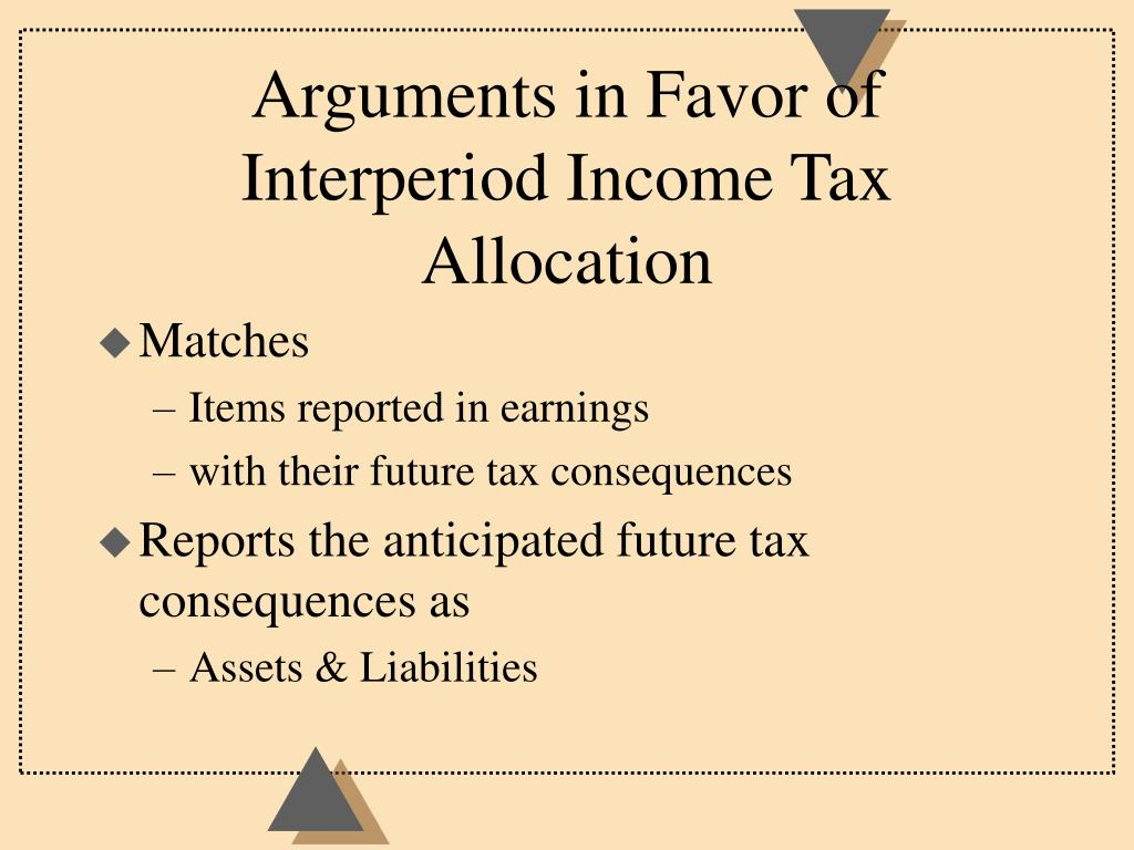 Arguments in Favor of Interperiod Income Tax Allocation