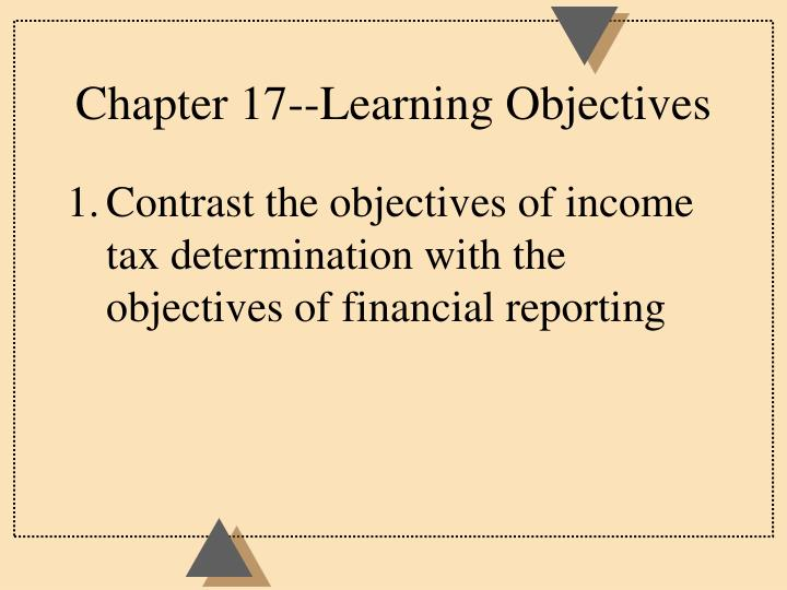 Chapter 17 learning objectives