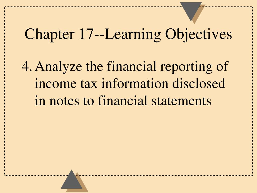 Chapter 17--Learning Objectives