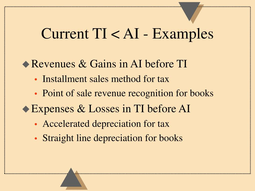 Current TI < AI - Examples