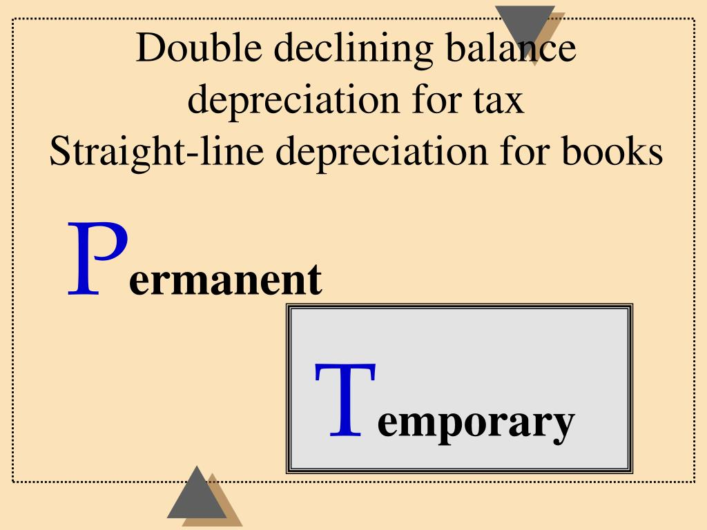 Double declining balance depreciation for tax