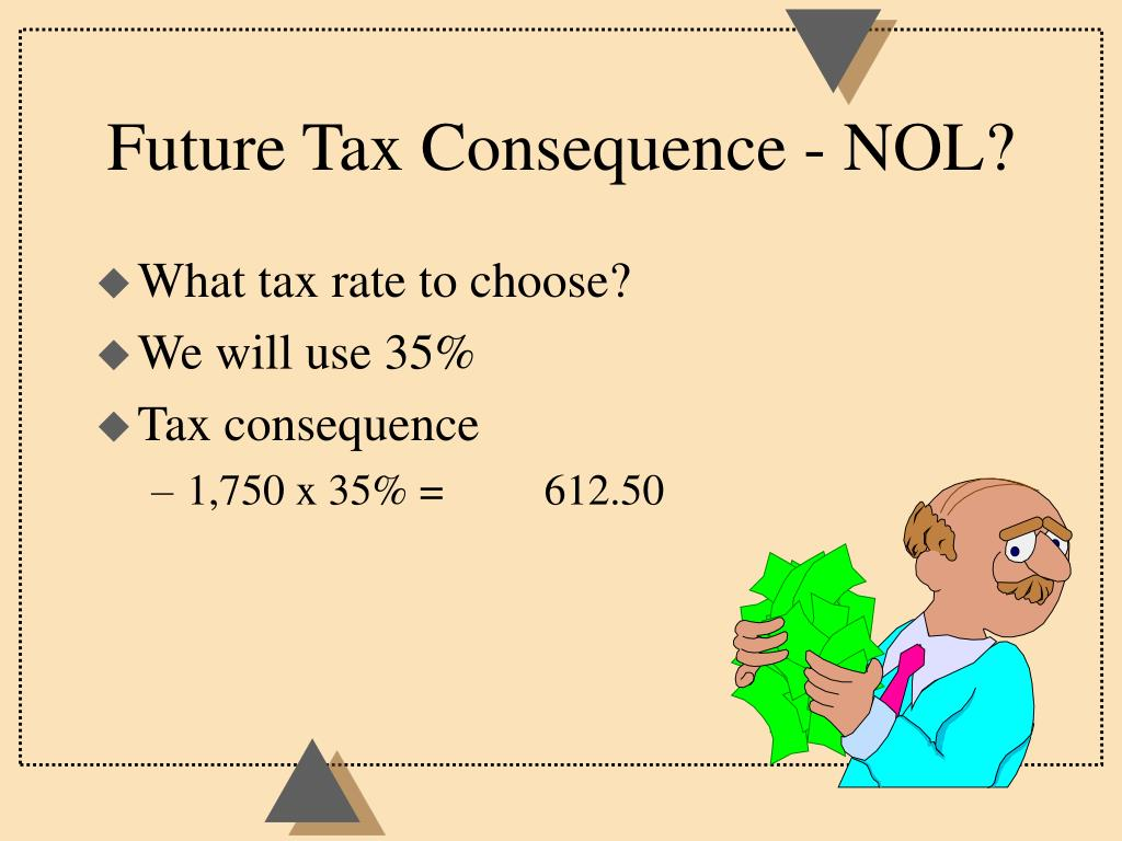 Future Tax Consequence - NOL?