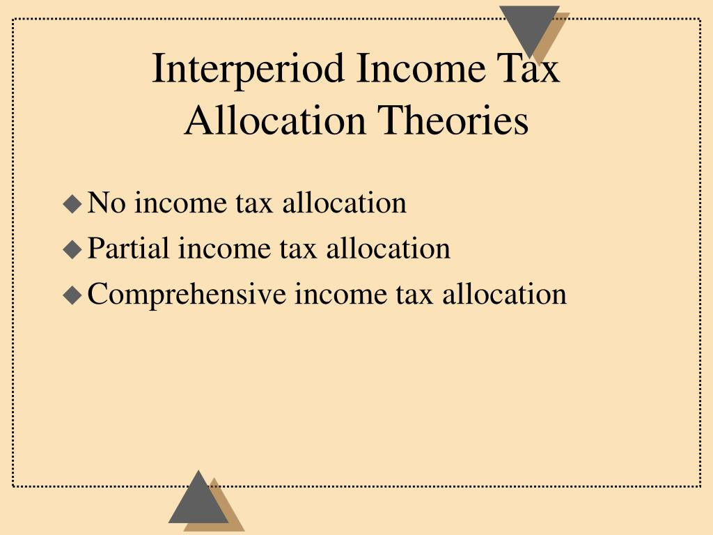 Interperiod Income Tax Allocation Theories