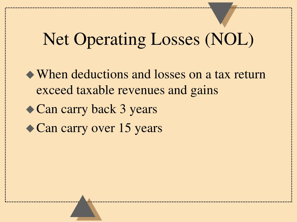 Net Operating Losses (NOL)