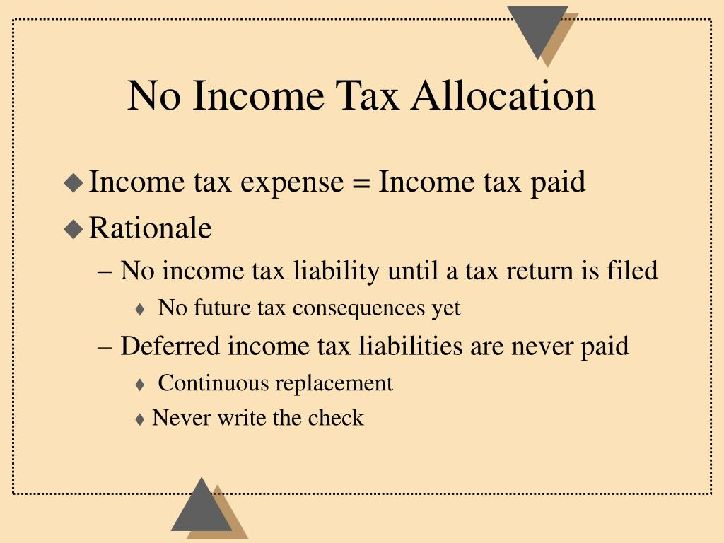 No Income Tax Allocation